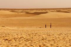 Dunas de arena en el desierto de Sáhara Imagenes de archivo