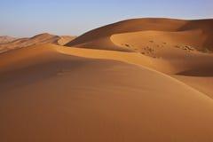 Dunas de arena en el desierto de Sáhara Foto de archivo libre de regalías