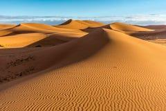 Dunas de arena en el ergio Chigaga Fotografía de archivo libre de regalías