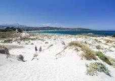 Dunas de arena en la costa sarda Fotos de archivo libres de regalías