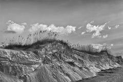 Dunas de arena en la isla del norte de Seabrook de la playa Imagen de archivo