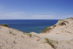 Dunas de arena en la isla del sur de Manitou Imágenes de archivo libres de regalías