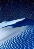 Dunas de arena en la noche Fotografía de archivo libre de regalías