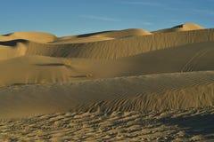Dunas de arena en las dunas de arena imperiales, California, los E.E.U.U. Fotos de archivo