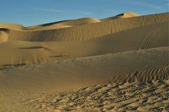Dunas de arena en las dunas de arena imperiales, California, los E.E.U.U. Fotografía de archivo