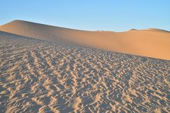 Dunas de arena en las dunas de arena imperiales, California, los E.E.U.U. Foto de archivo libre de regalías
