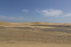 Dunas de arena en Maspalomas Gran Canaria imagen de archivo libre de regalías
