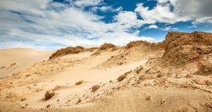 Dunas de arena en Te Paki Reserves Fotos de archivo libres de regalías