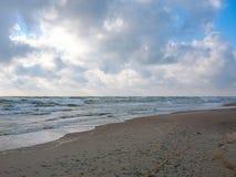 Dunas de arena en Windy Day Imágenes de archivo libres de regalías