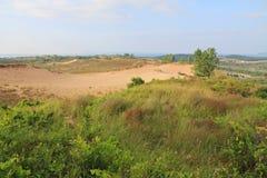 Dunas de arena a lo largo del lago Michigan, los E.E.U.U. Foto de archivo libre de regalías