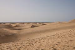 Dunas de arena de Maspalomas, islas Canarias, España fotos de archivo libres de regalías