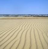 Dunas de arena por el mar Imagenes de archivo