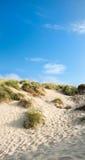 Dunas de arena y cielo azul, arenas de la comba Fotografía de archivo libre de regalías