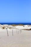dunas de arena y la playa imagen de archivo libre de regalías