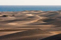 Dunas de Gran Canaria en Maspalomas Fotos de archivo libres de regalías
