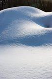 Dunas de la nieve Fotos de archivo libres de regalías