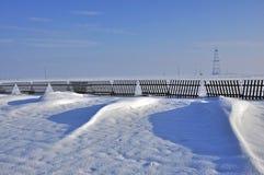 Dunas de la nieve Imagen de archivo libre de regalías