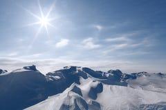 Dunas de la nieve Foto de archivo