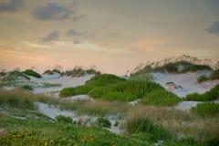 Dunas de la puesta del sol Imagenes de archivo