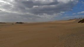 Dunas de Maspalomas - Gran Canaria - Spanien - am Sturm - bewölkter Himmel lizenzfreie stockfotos