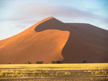 Dunas de Namib do deserto de Namíbia Imagem de Stock Royalty Free