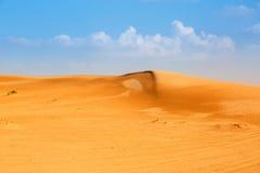 Dunas de Sandy en el desierto cerca de Abu Dhabi Imagen de archivo libre de regalías