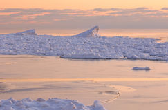 Dunas de Saugatuck do por do sol do inverno Imagem de Stock Royalty Free
