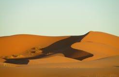 Dunas del desierto de la arena de África Fotos de archivo