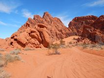 Dunas del deslumbramiento en Nevada fotografía de archivo libre de regalías