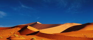 Dunas do deserto de Namib Imagem de Stock Royalty Free