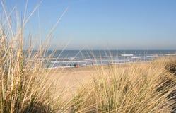 Dunas e Beachwalkers Fotos de Stock Royalty Free