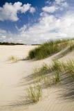 Dunas e céu de areia Fotografia de Stock