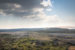 Dunas e floresta nas ilhas de Bazaruto Imagens de Stock Royalty Free
