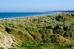 Dunas e praia de areia em Wexford Fotografia de Stock