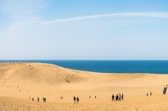 Dunas e praia de areia de Tottori Fotografia de Stock