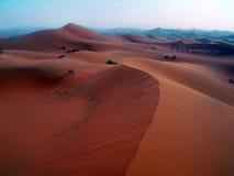 Dunas en el desierto de Chebbi del ergio Fotos de archivo libres de regalías
