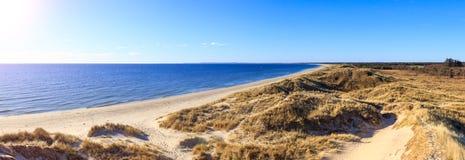 Dunas en el mar septentrional cerca de Bunken Fotos de archivo