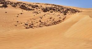 Dunas no deserto Imagens de Stock