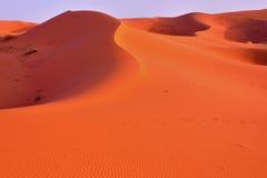 Dunas no deserto de Marrocos Foto de Stock Royalty Free