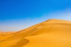 Dunas no deserto de Sahara fotografia de stock royalty free