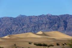 Dunas no parque nacional de Vale da Morte, Califórnia, EUA Fotografia de Stock