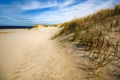 Dunas, praia e costa em Ameland, os Países Baixos imagens de stock