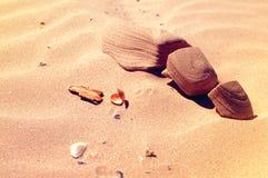 Dunas y playa Dunas de Sandy Fotografía de archivo