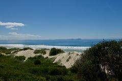 Dunas y playa en la jerarquía de los halcones Fotos de archivo