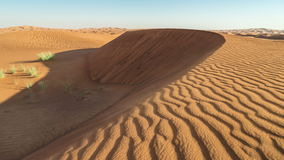 Dunas y viento de Timelapse en el desierto árabe, Dubai, UAE almacen de video