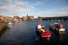 Dunbar harbour Stock Photo