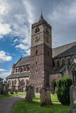 Dunblane Cathedral tower and graveyard in Stirling. Dunblane Cathedral tower and graveyard Royalty Free Stock Image
