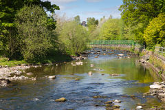 Dunblane river Scotland UK view of the Allan Water river in summer Royalty Free Stock Images