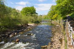 Dunblane Scotland Allan Water river in summer Royalty Free Stock Photography