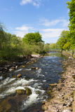 Dunblane Scotland UK view of the Allan Water river in summer Royalty Free Stock Photos